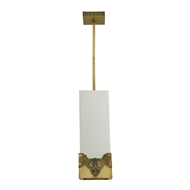 Arteriors Lighting Iris Pendant DD49007 Steel
