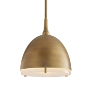Arteriors Lighting Jannah Pendant Antique Brass 49130 Steel