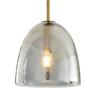 Arteriors Lighting Jenna Pendant Smoke Finish 42247 Glass
