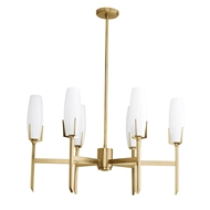Arteriors Lighting Keifer Chandelier Antique Brass 89437 Steel