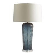 Arteriors Lighting Lainey Lamp 17412-167 Clear / Sapphire with Metallic Bubble Highlights