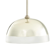 Arteriors Lighting Leo Pendant Vintage Silver 42228 Brass