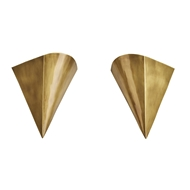 Arteriors Lighting Liam Sconces Vintage Brass, Set of 2
