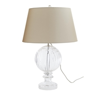 Arteriors Lighting Lilian Lamp 12020-379 Clear Ripple Cut Etched