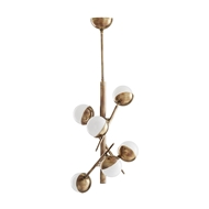 Arteriors Lighting Linkka Chandelier Heritage Brass 89444 Steel