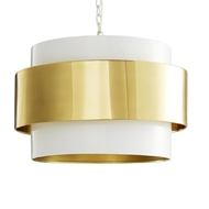 Arteriors Lighting Nolan Pendant Polished Brass 42234 Brass