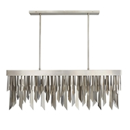 Arteriors Lighting Waldorf Rectangular Chandelier 89459 Steel
