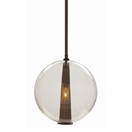Arteriors Lighting Caviar Adjustable Large Pendant With Smoke Finish In Brown