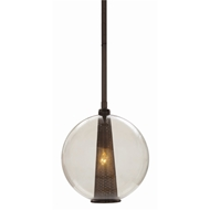 Arteriors Lighting Caviar Adjustable Medium Pendant With Smoke Finish In Brown