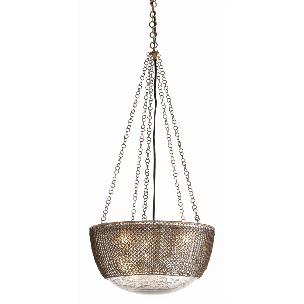 Arteriors lighting chainmail pendant dk42043 peace love decorating arteriors lighting chainmail pendant with antique brass finish in yellow aloadofball Images