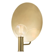 Arteriors Lorita Hallway Wall Lighting Sconce With Polished Brass Finish In Yellow