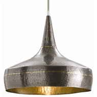 Arteriors Lighting Mason Wide Pendant With Dark Natural Iron Finish In Gray