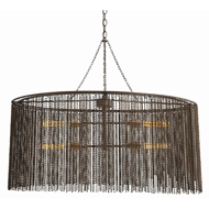 Arteriors Lighting Maxim Pendant With Dark Antique Brass Finish In Brown