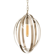 Arteriors Lighting Nico Pendant With Polished Nickel Finish In Gray