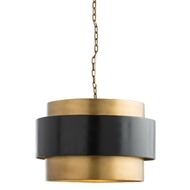 Arteriors Lighting Nolan Pendant With Vintage Brass Finish In Yellow