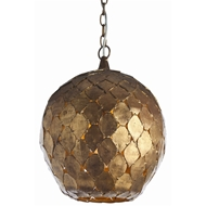 Arteriors Lighting Osgood Pendant With Gold Leaf Finish In Yellow