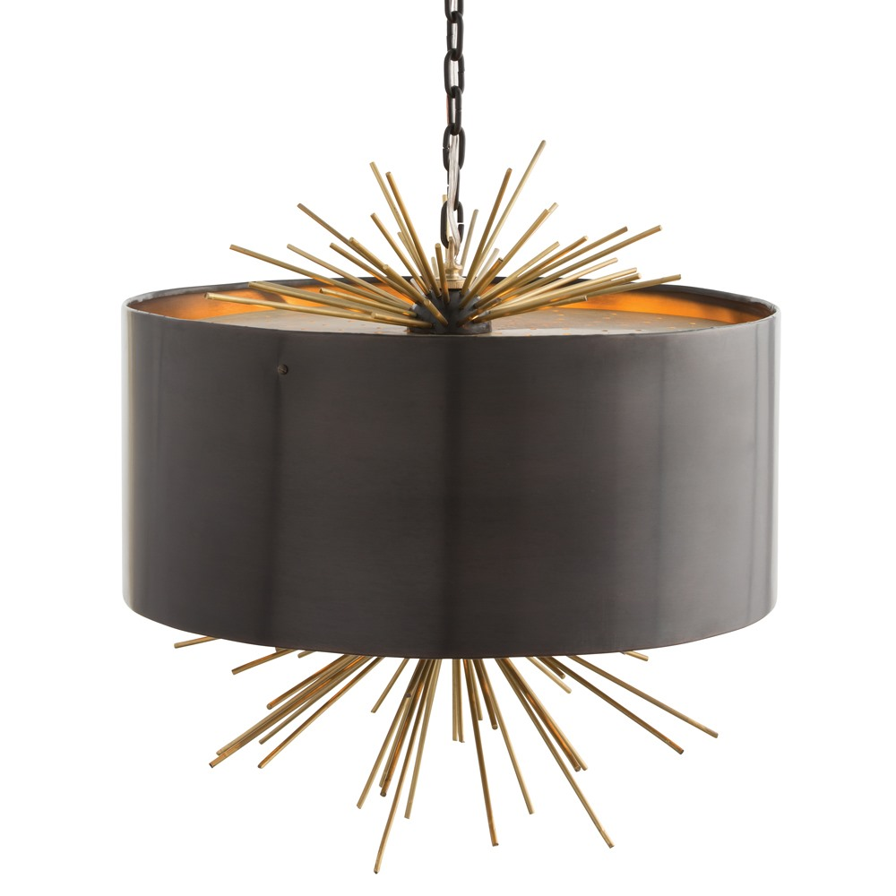 Arteriors Lighting Patton Pendant With English Bronze Finish In Black