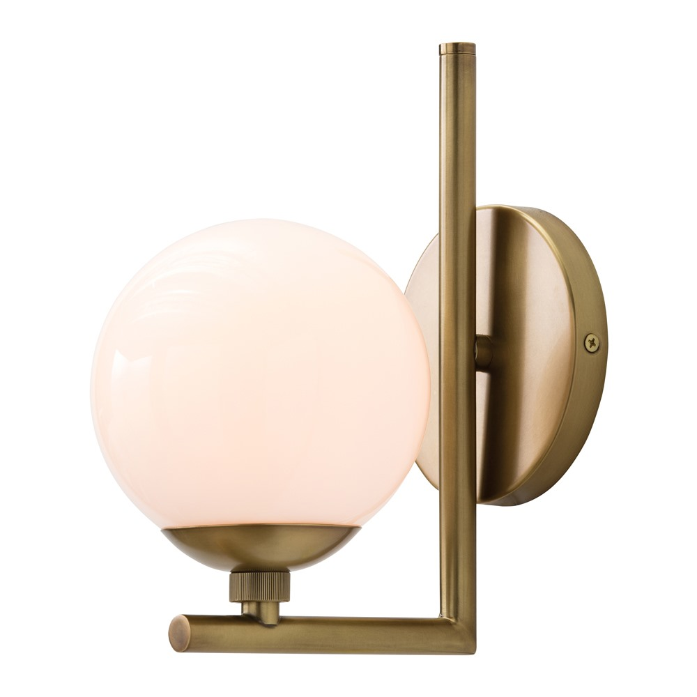 Arteriors Lighting Quimby In Steel With Antique Brass Finish In Yellow 49963 ...  sc 1 st  Peace Love u0026 Decorating & Arteriors Lighting Quimby Wall Sconce 49963 | Peace Love u0026 Decorating
