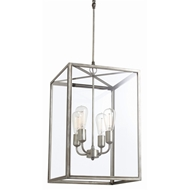 Arteriors Lighting Savannah Pendant With Aged Iron Finish In Gray