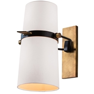Arteriors Lighting Yasmin Sconce In Linen With Off-White Finish 49995
