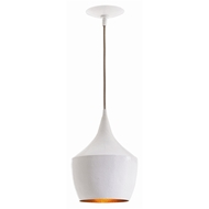 Arteriors Lighting Ziggy Small Pendant With White Finish In White
