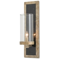 Currey & Company Lighting Charade Wall Sconce Black 5000-0025 Wrought Iron