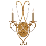 Currey & Company Lighting Crystal Lights Wall Sconce