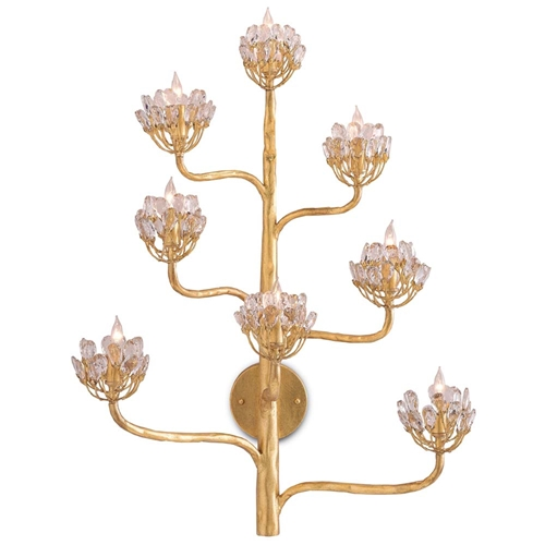 Currey & Company Lighting Agave Americana Wall Sconce 5000-0058 Wrought Iron