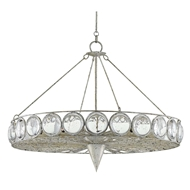Currey & Company Lighting Celestia Circle Chandelier 9000-0099 Wrought Iron