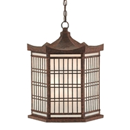 Currey & Company Lighting Hotei Lantern 9000-0110 Wrought Iron