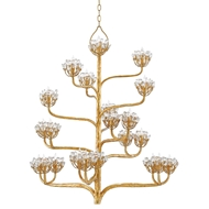 Currey & Company Lighting Agave Americana Chandelier 9000-0157 Wrought Iron