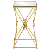 Currey & Company Home Ariadne Accent Table 4000-0036 - Wrought Iron/Glass