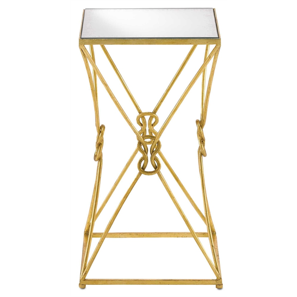Currey U0026 Company Home Ariadne Accent Table 4000 0036   Wrought Iron/Glass  ...