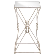 Currey & Company Home Ariadne Accent Table 4000-0046 - Wrought Iron/Glass