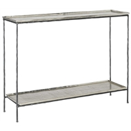 Currey & Company Home Boyles Console Table, Silver 4000-0041 - Iron/Cast Aluminum