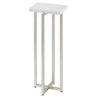 Currey & Company Home Cora Drinks Table, White 4000-0031 - Metal/Marble