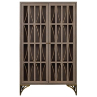 Currey & Company Home Lathan Cabinet 3000-0077 - White Oak Solids and Veneers/Metal