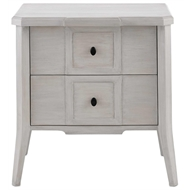 Currey & Company Home Thea Nightstand, Gray Slate