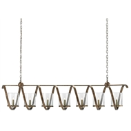Currey & Company Lighting Maximus Grande Chandelier 9000-0263 - Wrought Iron/Glass