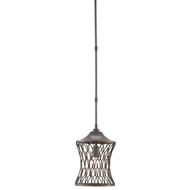 Currey & Company Lighting Stairway Pendant 9000-0281 - Wrought Iron