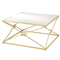 Currey & Company Home Ariadne Cocktail Table, Gold
