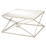 Currey & Company Home Ariadne Cocktail Table, Silver