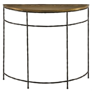 Currey & Company Home Boyles Demilune Console, Brass