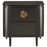 Currey & Company Home Briallen Nightstand, Caviar Black