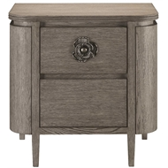 Currey & Company Home Briallen Nightstand, Winter Gray