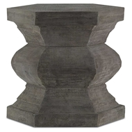 Currey & Company Home Pagoda Hexagonal Stool 2000-0004 Concrete