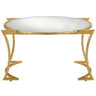 Currey & Company Home Lenox Cocktail Table 4000-0017 Steel