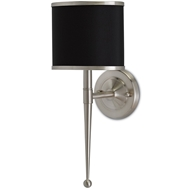 Currey & Company Lighting Primo Wall Sconce W/ Black Shade 5000-0021 Brass