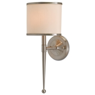 Currey & Company Lighting Primo Wall Sconce W/ Cream Shade