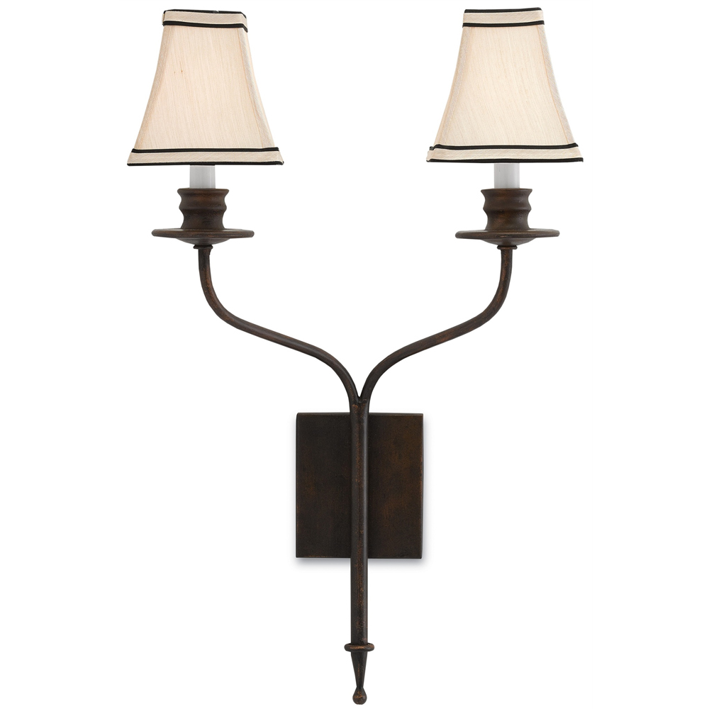 Currey & Company Lighting Highlight Wall Sconce 5000-0038 Wrought Iron